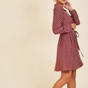 ModCloth Navy & Burgundy Shirtdress